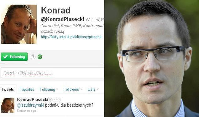 Konrad Piasecki an Twitterze/Konrad Niklewicz