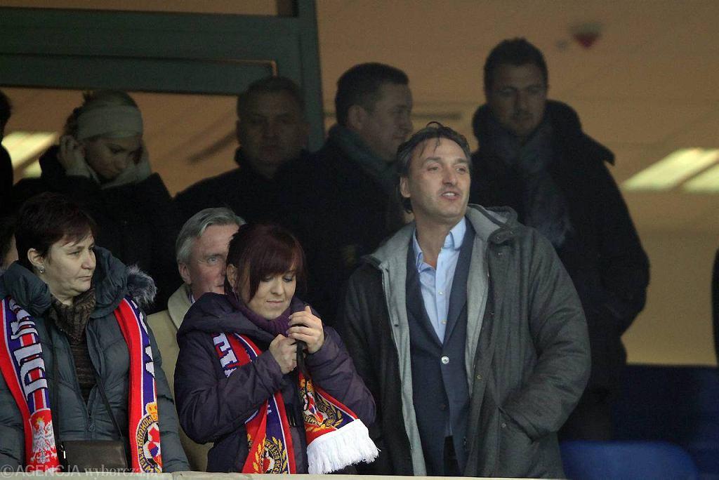 Wisła - Twente 2:1. Robert Maaskant na trybunach stadionu w Krakowie