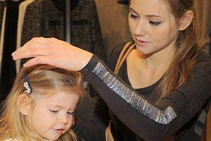 Agata Rubik z córeczką.