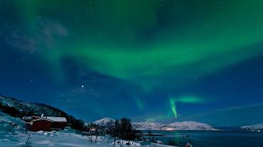Zorza polarna nad Norwegią