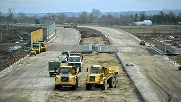 Plac budowy autostrady A4