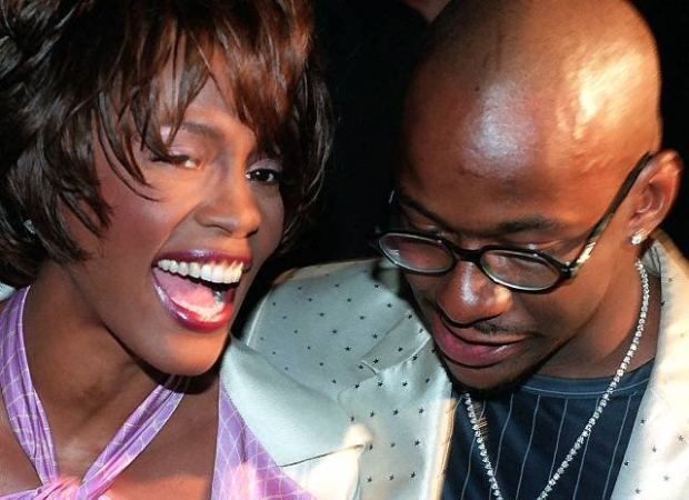 FOR IMMEDIATE RELEASE--Whitney Houston and her husband Bobby Brown arrive for the Versace Versus Fall 1998 fashion show in New York Saturday, March 28, 1998. (AP Photo/Mark Lennihan)