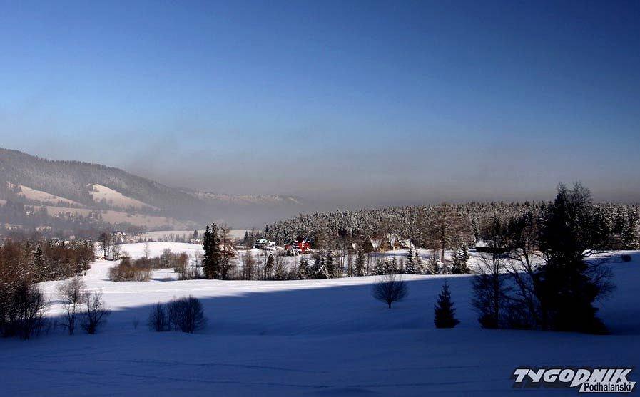 Smog nad Zakopanem - 28 stycznia 2012