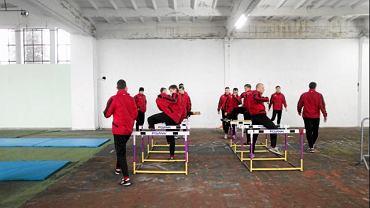 Zimowy trening piłkarzy Górnika