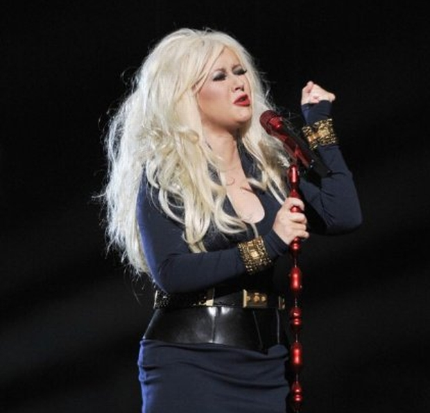 Christina Aguilera  Michael Forever Tribute Concert at The Millenium Stadium, Cardiff, Wales, UK 8th October 2011  performing live in on stage   CAP/MAR  ? Martin Harris/Capital Pictures
