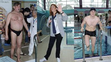 Nie codziennie można oglądać popularnych aktorów w strojach kąpielowych. Taka okazja zdarzyła się wczoraj, przy okazji dorocznych Mistrzostw Aktorów w Pływaniu. Na basenie karnie zjawili się m.in. Daniel Zawadzki, Sambor Czarnota i Karol Strasburger.