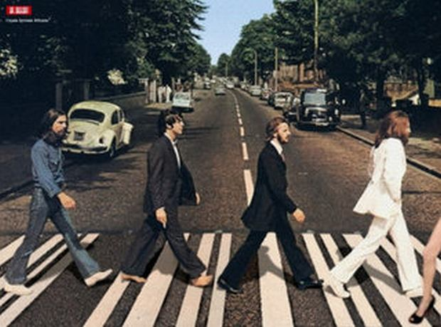Noga na Abbey Road.