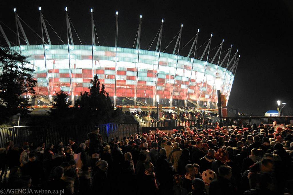Stadion Narodowy wieczorem