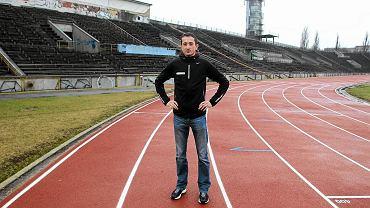 Henryk Szost na stadionie Skry Warszawa