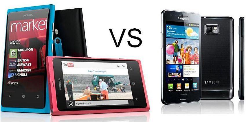 Nokia Lumia 800 vs Samsung Galaxy S II