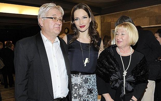 Anna Dereszowska z ojcem i macochą.