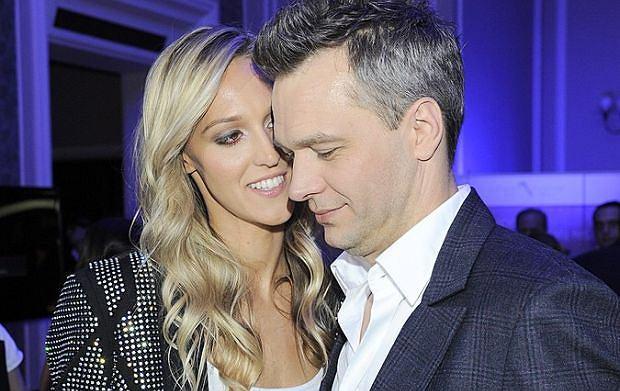 Michał Żebrowski z żoną Aleksandrą Adamczyk.