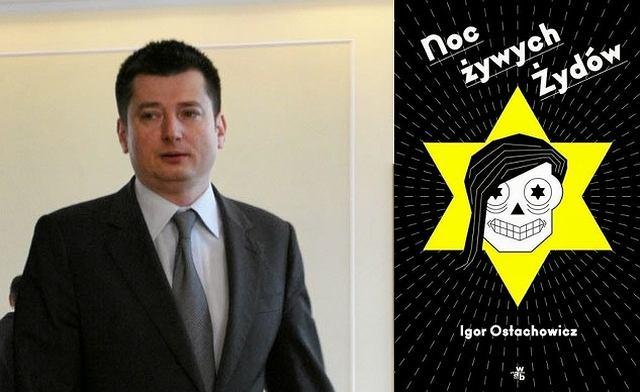 Igro Ostachowicz i okładka jego książki