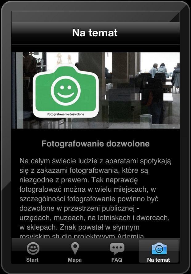 Aplikacja Fotografowanie Dozwolone