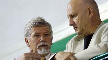 Piotr Hałasik (z prawej) z wiceprezydentem Sosnowca Ryszardem Łukawskim