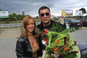 Dariusz Michalczewski z żoną Patrycją