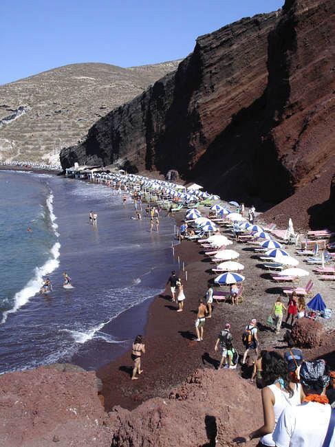 Santorini - piękna wulkaniczna palża