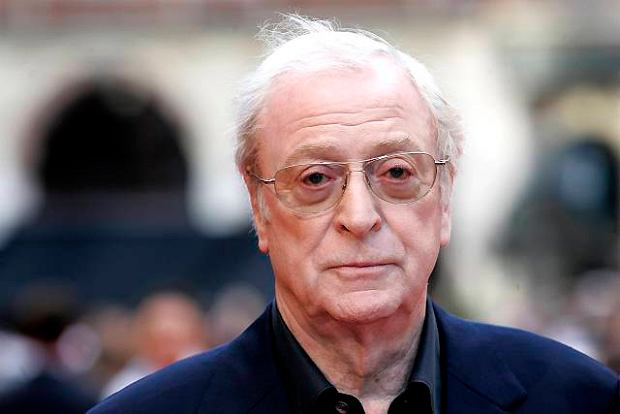 British actor Michael Caine arrives for the European Premiere of 'The Dark Knight', in central London, Monday July 21, 2008. (AP Photo/Joel Ryan)