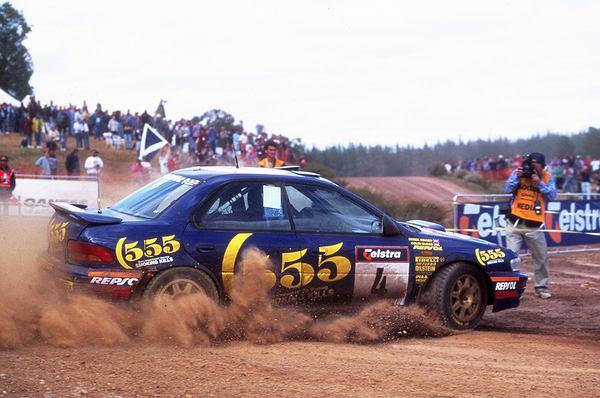 Colin McRae na Subaru Impreza w Rajdzie Katalonii w 1995 roku