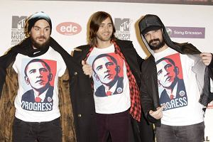 30 Seconds To Mars na czerwonym dywanie przed ceremonią wręczenia MTV EMA