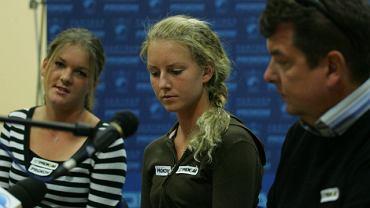 Robert Radwański z córkami