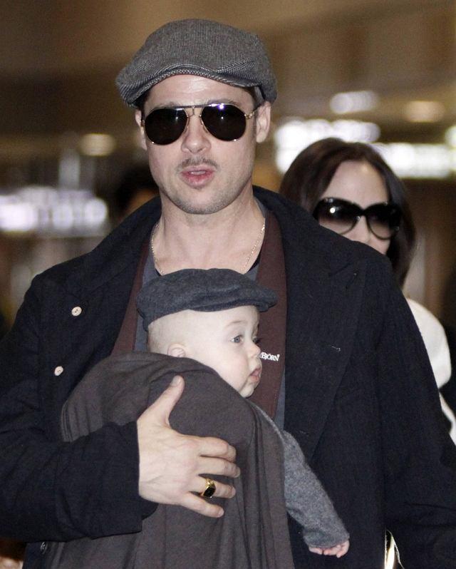 Angelina Jolie, Brad Pitt z dziećmi