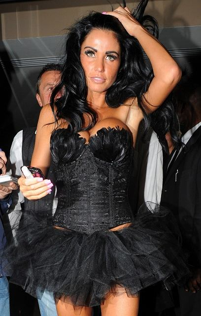 Model Katie Price at Michelle Heaton's birthday party at Studio Valbonne in London.