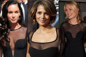 Megan Fox i Halle Berry doskonale znacie. Anna Paquin gra natomiast w serialu Czysta krew i otrzymała Oskara już w wieku jedenastu lat! Wszystkie trzy panie sprawiły sobie bardzo podobne sukienki. Która z nich wygląda najlepiej?