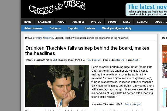 Niedysponowany szachista fot. za chessvibes.com