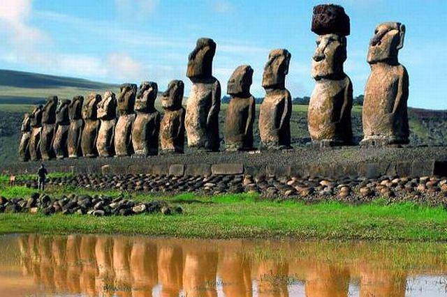 Figury Moai na Wyspie Wielkanocnej fot.AP