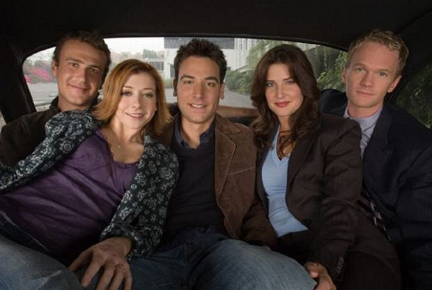 Jason Segel, Alyson Hannigan, Josh Radnor, Cobie Smulders and Neil Patrick Harris from the new CBS series HOW I MET YOUR MOTHER. Photo: Monty Brinton/CBS  2005 CBS Broadcasting Inc.