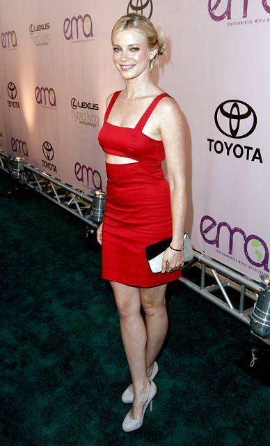 Actress Amy Smart arrives at the 20th Anniversary Environmental Media Awards at the Paramount lot, Sunday, Oct. 25, 2009, in Los Angeles. (AP Photo/Matt Sayles)