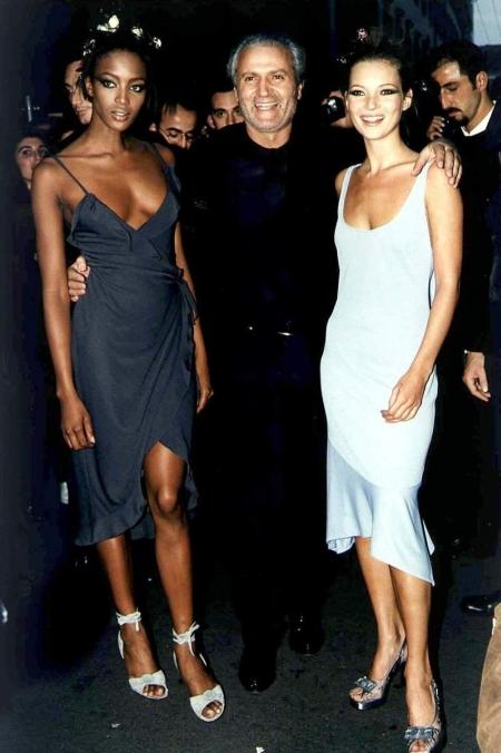 Gianni Versace Kate Moss i Naomi Campbell