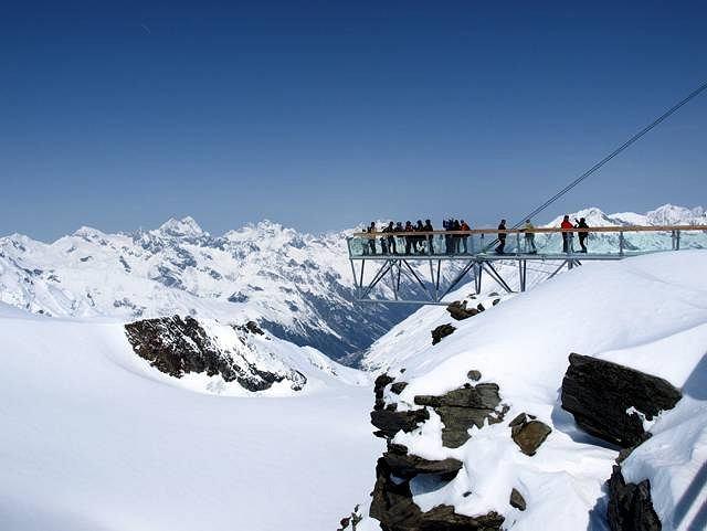 Punkt widokowy pod szczytem Tiefenbachkogl