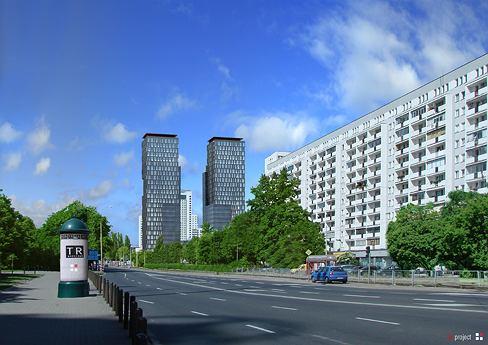 Projekt stumetrowych wieżowców obok dawnych zakładów Norblina