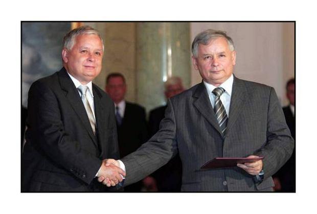 Prezydent Lech Kaczyński  desygnuje na premiera Jarosława Kaczyńskiego