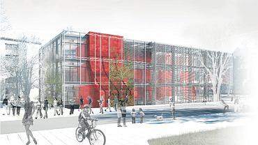 Fasady centrum kultury będą szklane, w wielu miejscach porośnięte przez pnącza