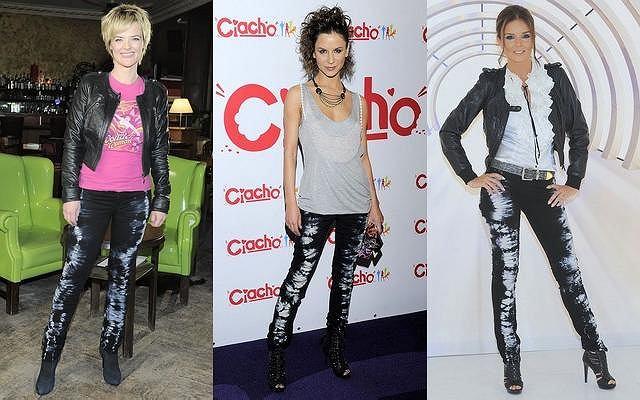 Wszystkie trzy panie pojawiły się publicznie w identycznych spodniach - Monika Richardson na nagraniu swojego nowego programu, Natalia Lesz podczas premiery filmu