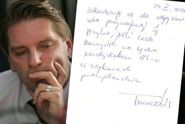 Tomasz Lis i jego oświadczenie