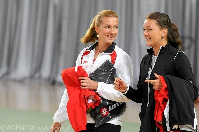 Marta Domachowska i Agnieszka Radwańska