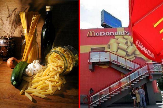Tradycyjna kuchnia czy fast food? Fot. sxc.hu/AG, fotomontaż gazeta.pl