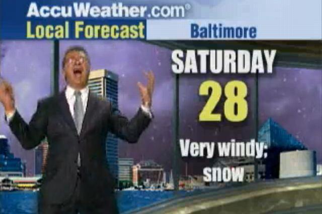Jim Kosek zapowiada pogodę Fot. YouTube.com