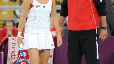 Agnieszka Radwańska i Tomasz Wiktorowski