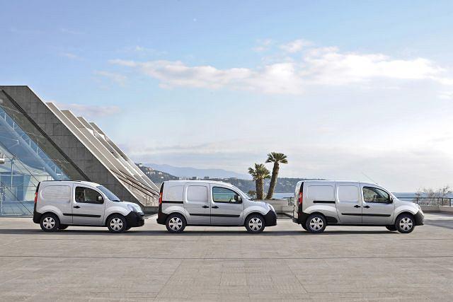Rodzina Renault Kangoo, od lewej: Express Compact, Express i Express Maxi