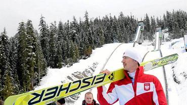 Vancouver 2010. Adam Małysz na skoczni w Whistler