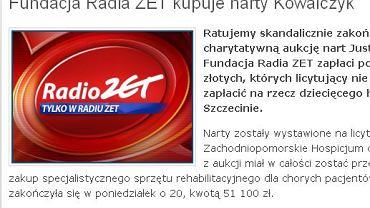 O przekazaniu pieniędzy poinformowano na stronie Radia Zet