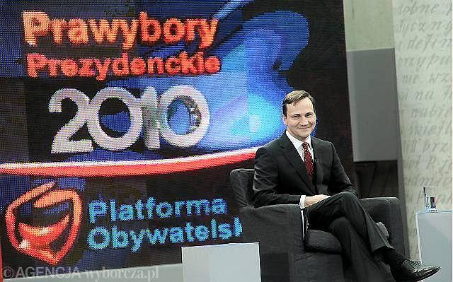 Radosław Sikorski podczas debaty