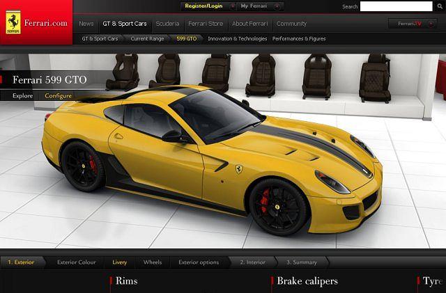 Konfigurator Ferrari 599 GTO
