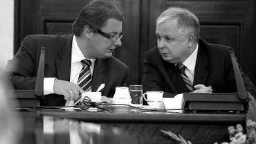 Michał Kamiński rozmawia z Lechem Kaczyńskim