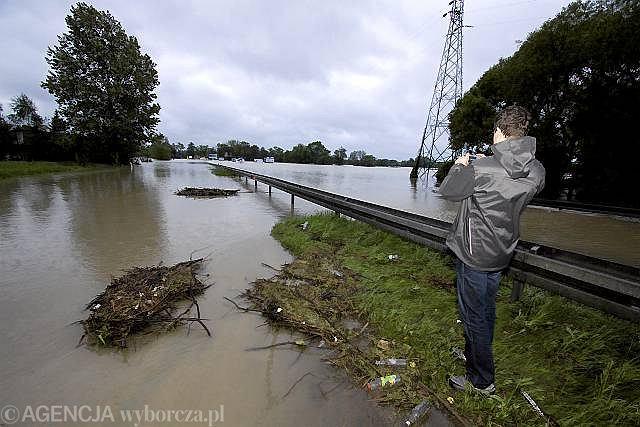 Czechowice-Dziedzice, zalana droga krajowa nr 1